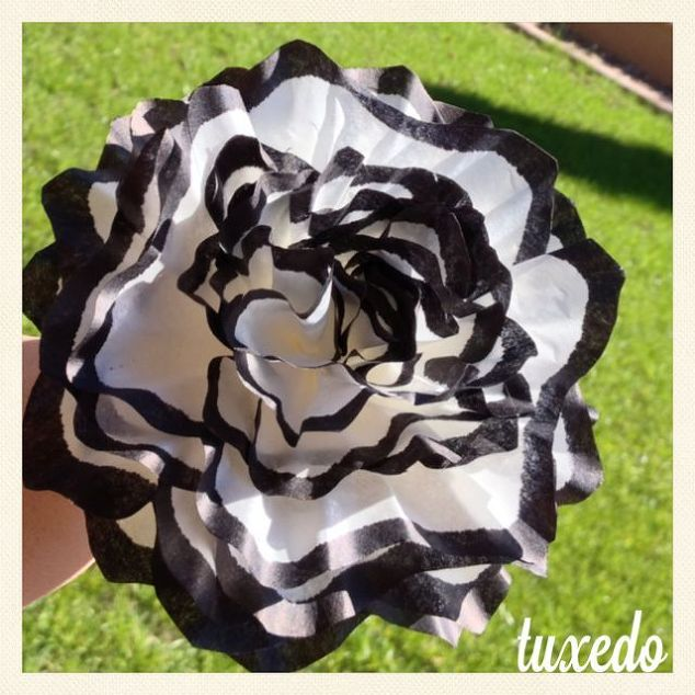 How to make paper flowers from coffee filters image collections coffee filter flowers hometalk coffee filter flowers crafts tuxedo these flowers were originally used in a mightylinksfo