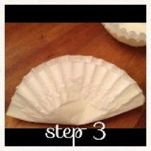 coffee filter flowers, crafts
