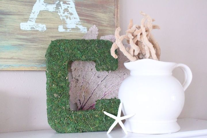 how to make moss covered letters, crafts, Tutorial on How to Make these Moss Covered Letters