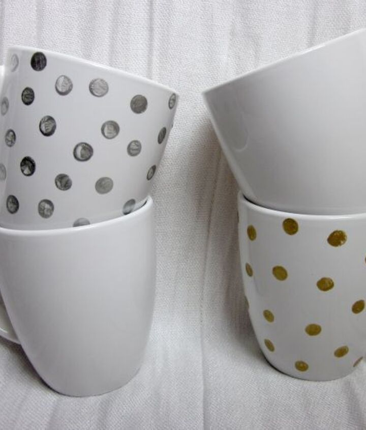 Once you've painted your mugs, follow the directions on the Martha Stewart craft paint bottle to bake them. This will seal in the paint & make them top-rack dishwasher safe!
