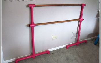 diy portable ballet barre, entertainment rec rooms, how to