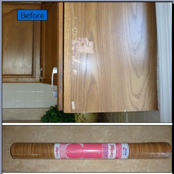 Interior How To Fix Kitchen Cabinets quick oak cabinet fix with tiny budget hometalk home maintenance repairs kitchen cabinets woodworking