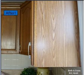 Quick Oak Cabinet Fix With Tiny Budget, Home Maintenance Repairs, Kitchen  Cabinets, Woodworking
