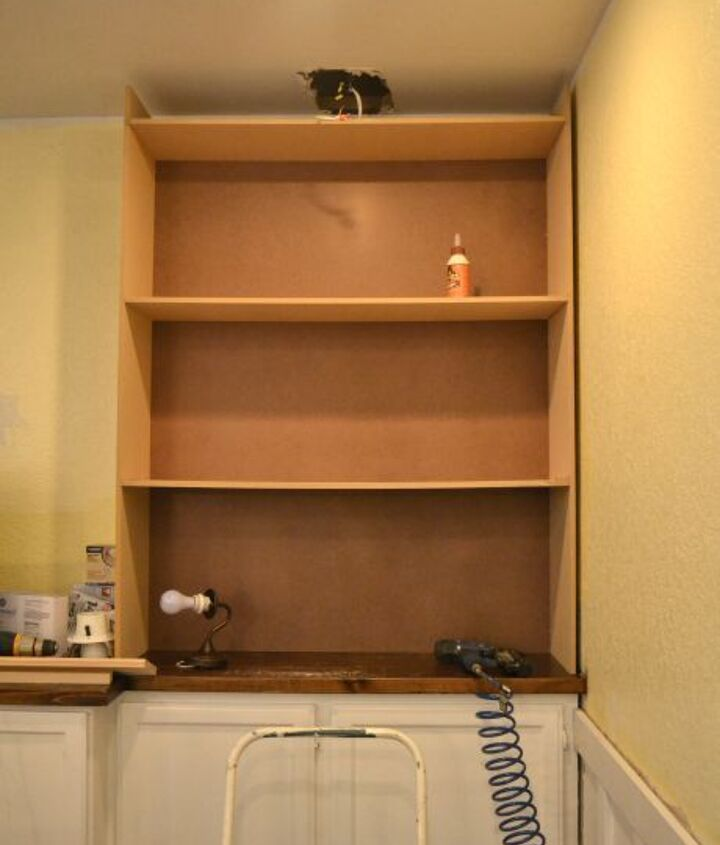 I made the basic structure of the bookcases out of 1/2-inch MDF.