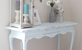 beach inspired console table, painted furniture