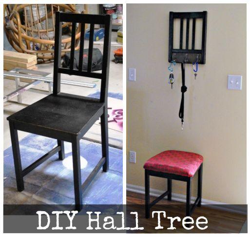 diy hall tree, foyer, home decor, repurposing upcycling