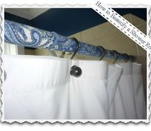 covering shower rods with fabric, bathroom ideas, home decor, Transform a shower rod