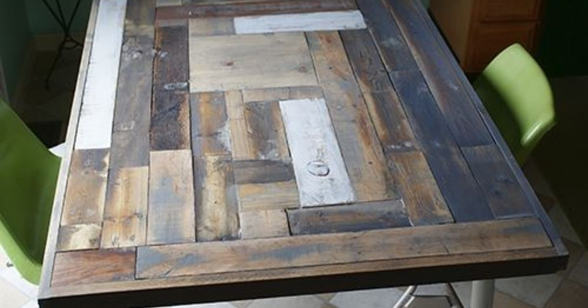 reclaimed wood table top resurface diy hometalk. Black Bedroom Furniture Sets. Home Design Ideas