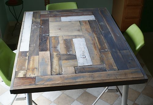 Reclaimed Wood Table Top Resurface DIY Hometalk - Recycled wood table top
