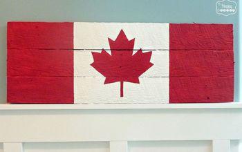 Canada Flag Pallet Sign Tutorial