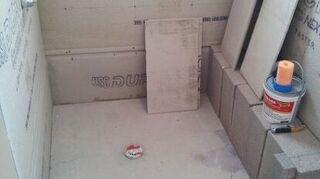 q disaster shower job, bathroom ideas, home improvement, home maintenance repairs, tiling, Durock applied over studs