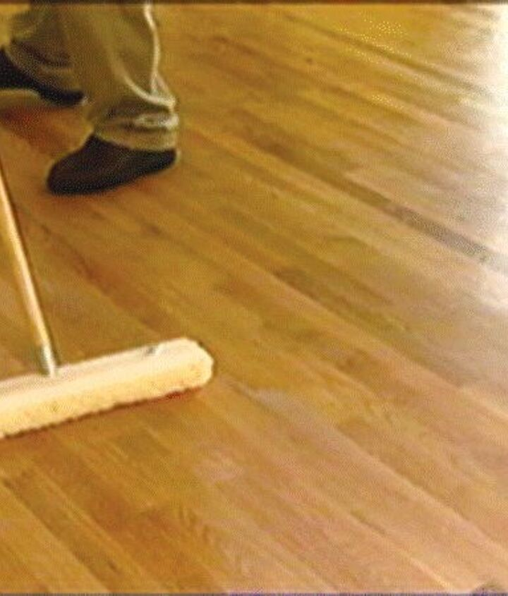 Lightly dampened mop will clean any dirt or smudges allowing your floors to shine