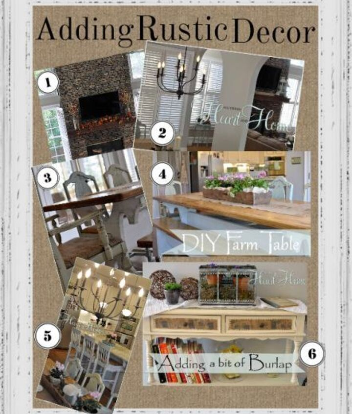 I've been on a methodical mission to add rustic charm to my white kitchen...here's the board with everything I've done...