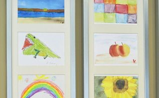 displaying kids art on the wall hot tip, bedroom ideas, crafts, home decor
