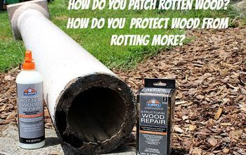 Rotten Wood Repair: A Two Prong Attack With the Help of Elmer