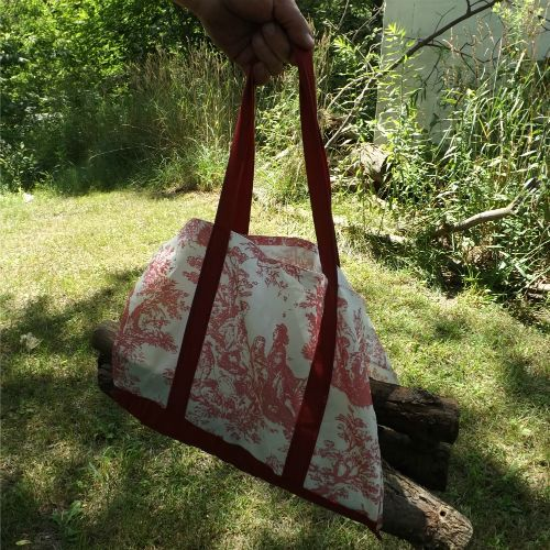 Slit the Sides of a Tote Bag for an Easy Wood Carrier
