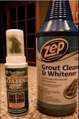 cleaning bathroom tile grout, cleaning tips, home maintenance repairs, tiling, You can get these products at Home Depot or Amazon