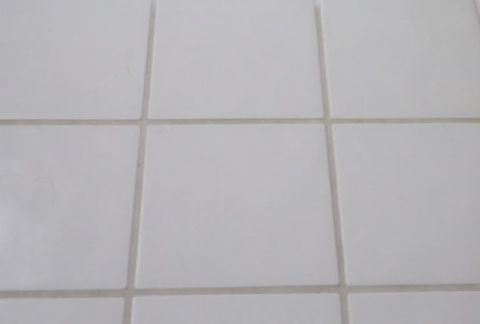 The grout is supposed to be white, but over time it has gotten pretty gray