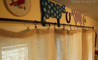 easy diy burlap curtains, home decor, reupholster, window treatments