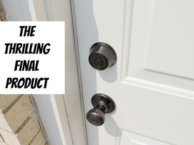 an amazingly easy way to refinish door hardware, doors