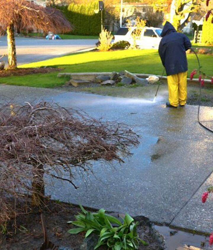 #1. Hire son to pressure wash. Best way to clean the outdoors and it's fast too. And sons work for cheap...