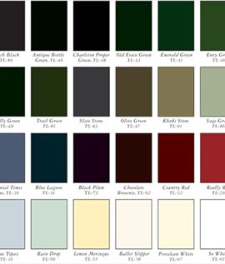 24 Standard Paint Colors offered by Timberlane