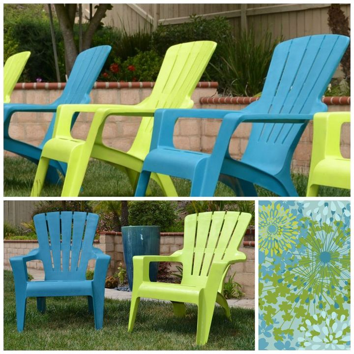 spray painted outdoor chairs, outdoor furniture, outdoor living, painted furniture