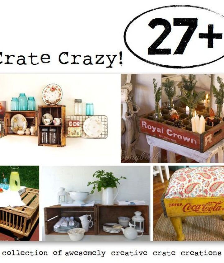 Drop dead crate gorgeousness right from HomeTalk! http://www.hometalk.com/b/156975/crate-crazy