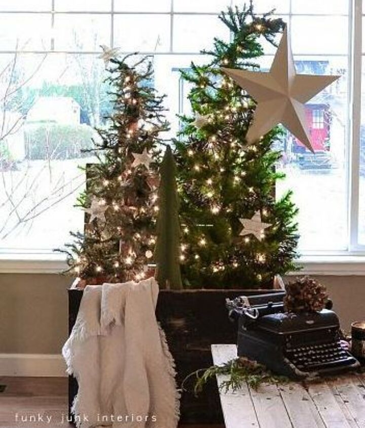 And then there was the one about the Christmas tree forest.. in a crate of course. http://www.funkyjunkinteriors.net/2012/12/christmas-tree-forest-in-crate-day-11.html