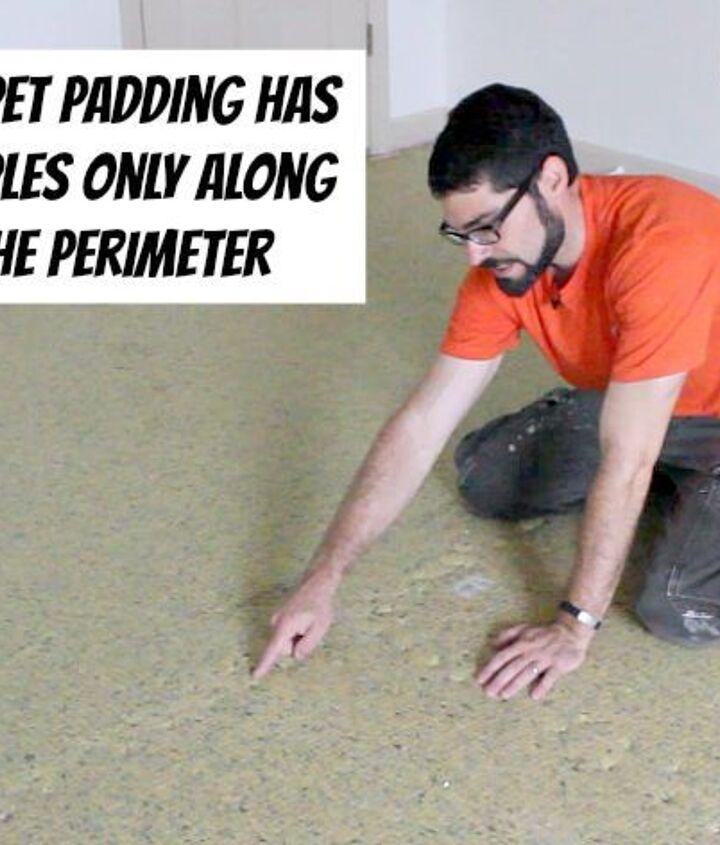 Padding has staples