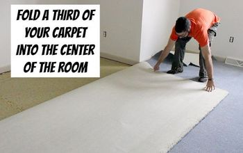 how to remove old stinky carpet a complete step by step guide, diy, flooring, how to, Fold carpet into thirds