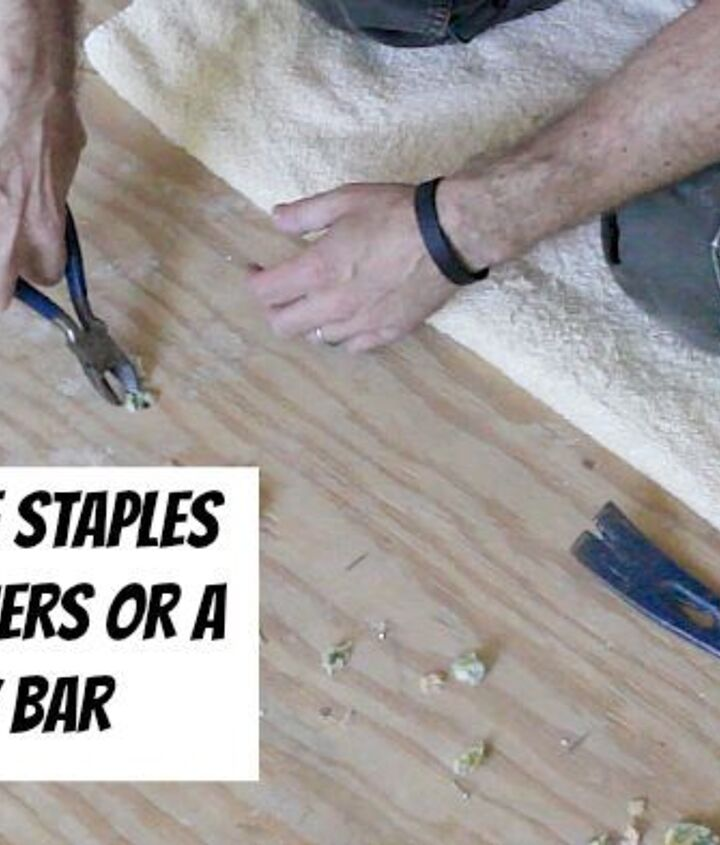 Remove staples in the subfloor