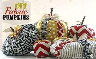 fabulous diy fabric pumpkins, crafts, seasonal holiday decor, Fabric Pumpkins