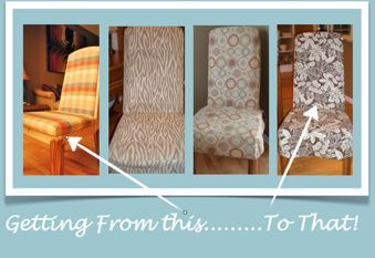 slipcover tutorial for parson chairs hometalk