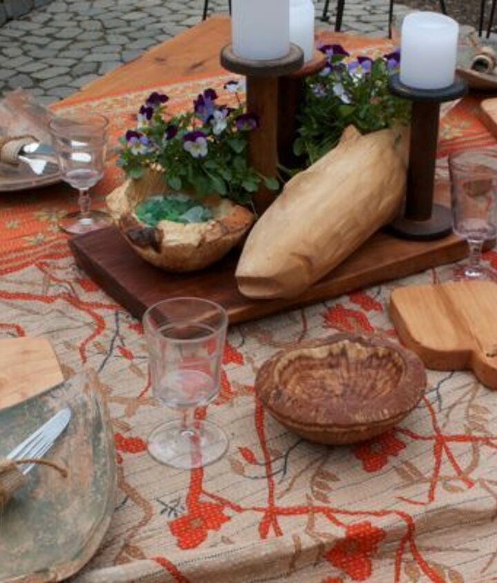 Hand carved fish, serving board, burl bowl and individual bread boards by my husband Kent, available through our website  http://cynthiaweber.com/handmade-wooden-serving-pieces/