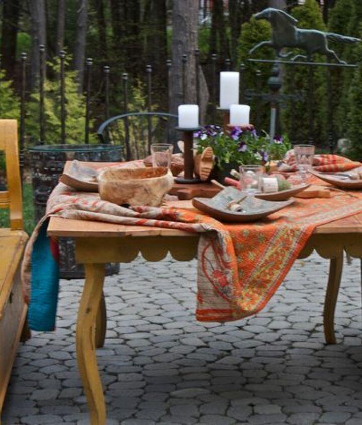 boho inspired tablescape