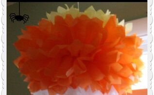 how to make a tissue paper pom pom, crafts, Tissue Paper Pom Pom