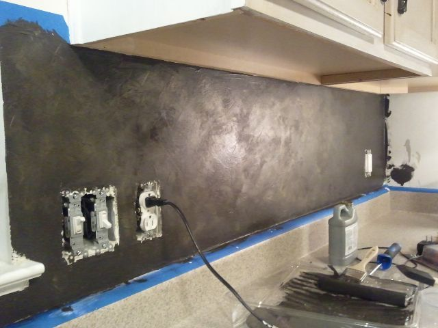 DIY French Stenciled Backsplash   Hometalk