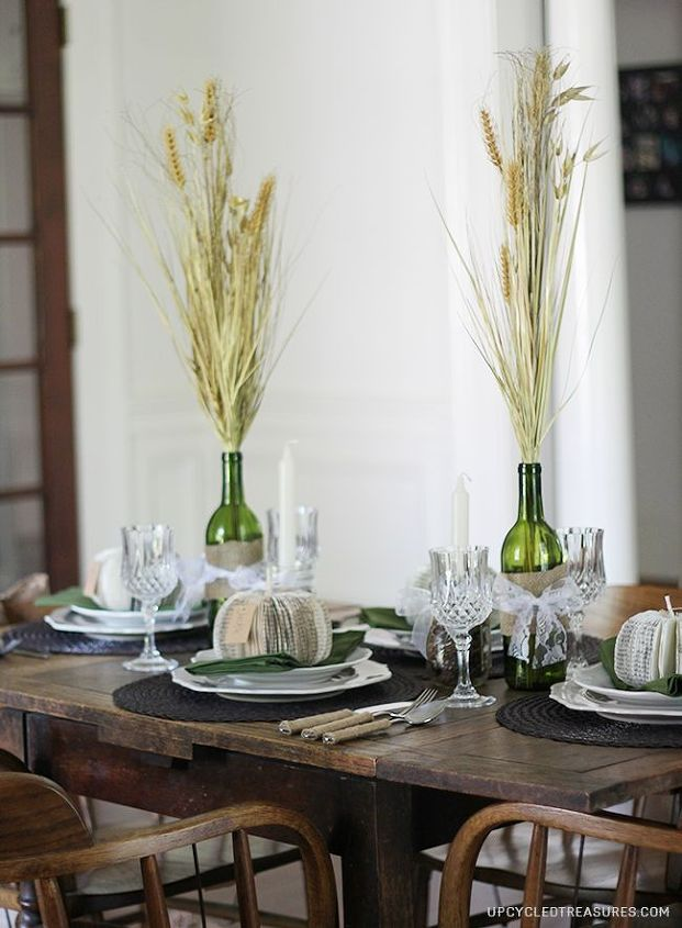 Fall Tablescape - The stemware was a thrifty vintage find :)
