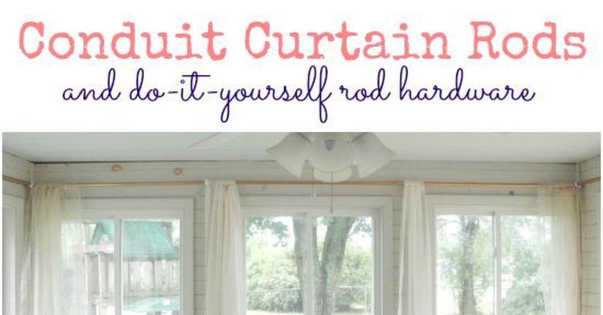 Conduit curtain rods and diy hardware hometalk solutioingenieria Images