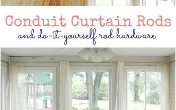 Conduit Curtain Rods and DIY Hardware