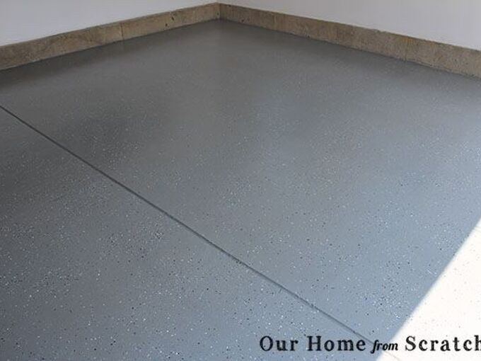 garage floor epoxy paint, diy, flooring, garages, how to, painting, This is how it looks the day after applying the paint So much better