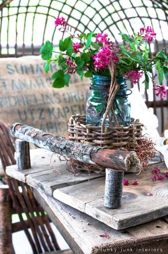 make a branch handled tray, crafts, The branch handles steal the show with this little number They blend in perfectly with the reclaimed board base Full tutorial is at