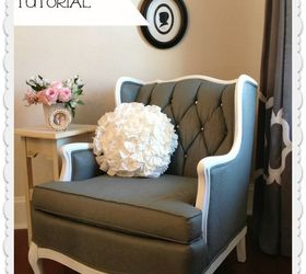 How To Paint Upholstery Fabric And Transform A Chair