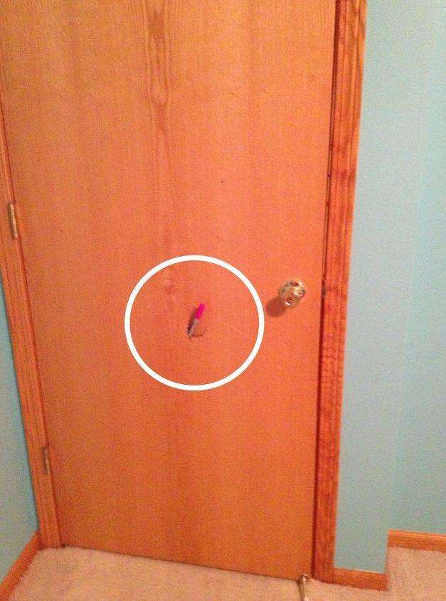q repairing hollow core door, doors, home maintenance repairs, Exhibit A where a foot punched through this door