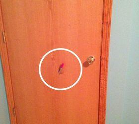 Exhibit A where a foot punched through this door & Repairing Hollow Core Door | Hometalk