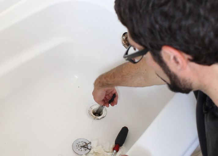 how to unclog a bathtub drain the easy way, bathroom ideas, cleaning tips, home maintenance repairs, how to, plumbing, Remove the hair screen and use needle nose pliers to fish out hair it s surprising what you ll find