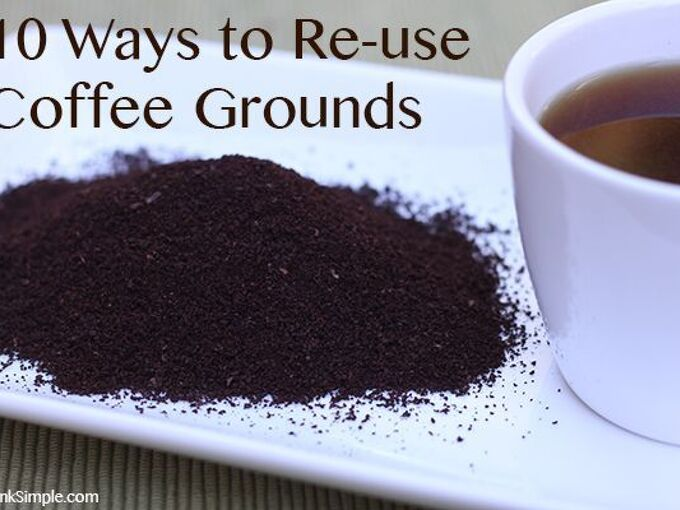 10 ways to reuse coffee grounds, flowers, gardening, go green, mason jars, repurposing upcycling
