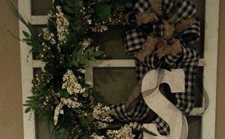 a wreath on an old window screen, crafts, repurposing upcycling, seasonal holiday decor, wreaths