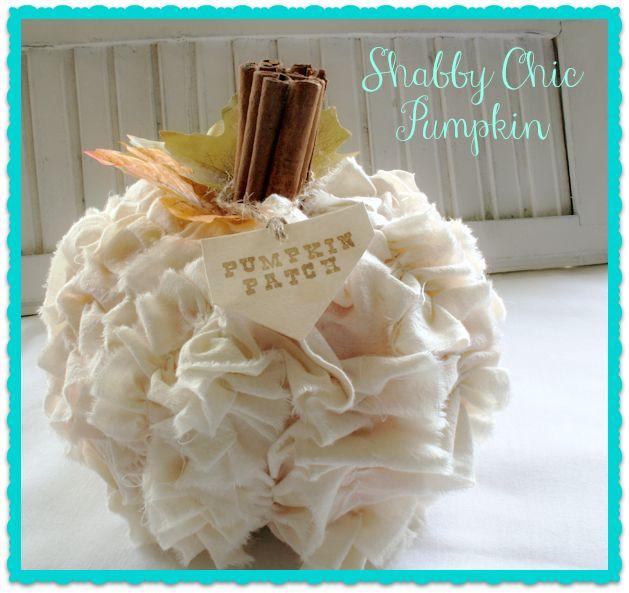 shabby chic pumpkin, crafts, shabby chic